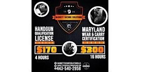 Maryland Handgun Qualification License Course tickets