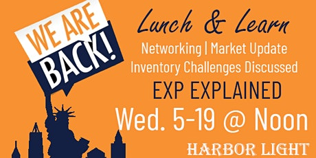 We're Back - Let's Get Together - Lunch and Learn tickets