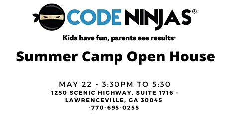 Code Ninjas Snellville Camp Open House tickets