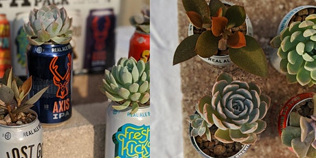 Build Your Own Beer Can Planter at Joy Organics Spring Bloom Market tickets