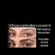 Brow Lamination Certification course class training with full kit tickets