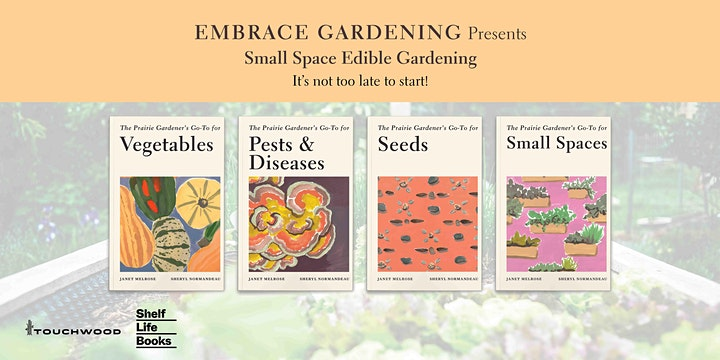 Embrace Gardening- Small Space Edible Gardening -A Talk Plus a Book! image