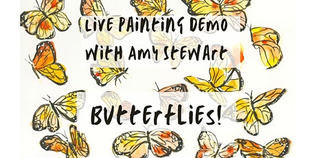 Live Art Demo with Amy Stewart: Drawing & Painting Butterflies tickets
