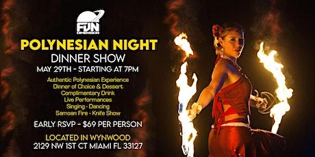 Polynesian Night - Dinner Show tickets