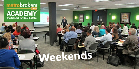 Real Estate Pre-License Course -LIVE/In-person  Weekeknd (T.Edward Collins) tickets