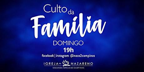 Culto da Família -  09/05 - 19h ingressos