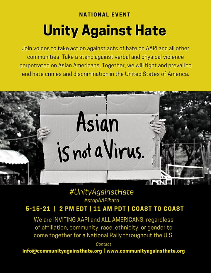 UNITY AGAINST HATE NATIONWIDE RALLY ( Boston Commom) image