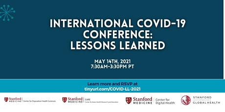 Stanford Medicine International COVID-19 Conference: Lessons Learned tickets