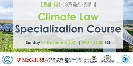 Climate Law and Governance Specialization Course tickets