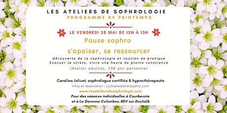 Atelier de sophrologie : S'apaiser, se ressourcer billets