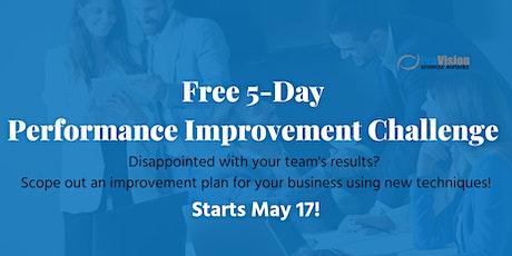 FREE 5 Day Performance Improvement Challenge tickets