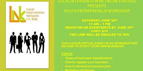 L.I.N.K.  YOUTH ENTREPRENEUR WORKSHOP tickets