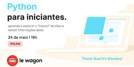 """PYTHON para iniciantes – aprenda a explorar o """"interior"""" de sites ingressos"""