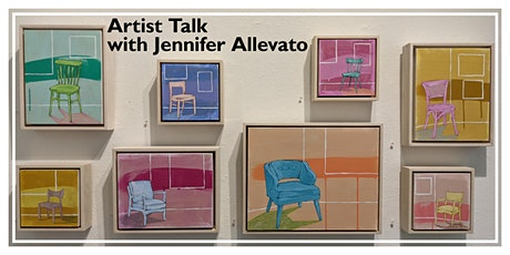 "Artist Talk: Jennifer Allevato on her mixed media paintings in ""Seated"" tickets"