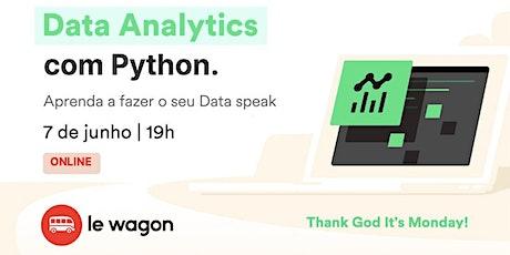 Analise de dados com Python - aprenda a fazer o seu Data speak | Le Wagon ingressos