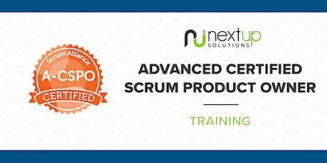 Advanced Certified Scrum Product Owner (A-CSPO) Training (Virtual) bilhetes
