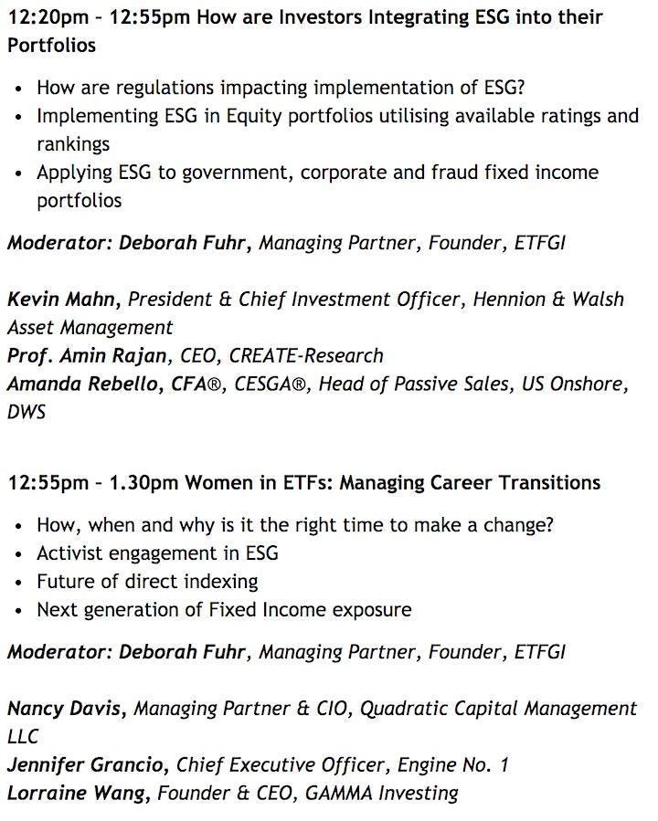 2nd Annual ETFGI Global ETFs Insights Summit - United States image