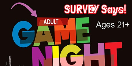 Adult Game Night Survey Says Fundraiser (live host) via Zoom (EB) tickets