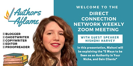 The Direct Connection Network Zoom Meeting with Nishoni Harvey tickets