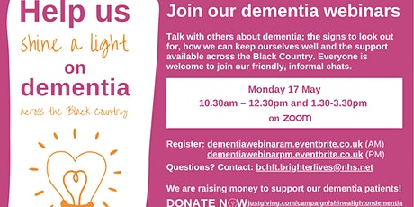 Shine a light on dementia webinar (am session) tickets