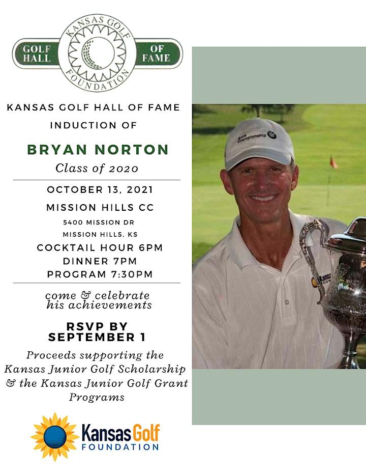 Kansas Golf Hall of Fame Banquet - Bryan Norton image