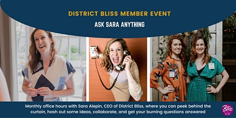 Ask Sara Anything: Monthly Office Hours with the CEO (Members-Only) tickets