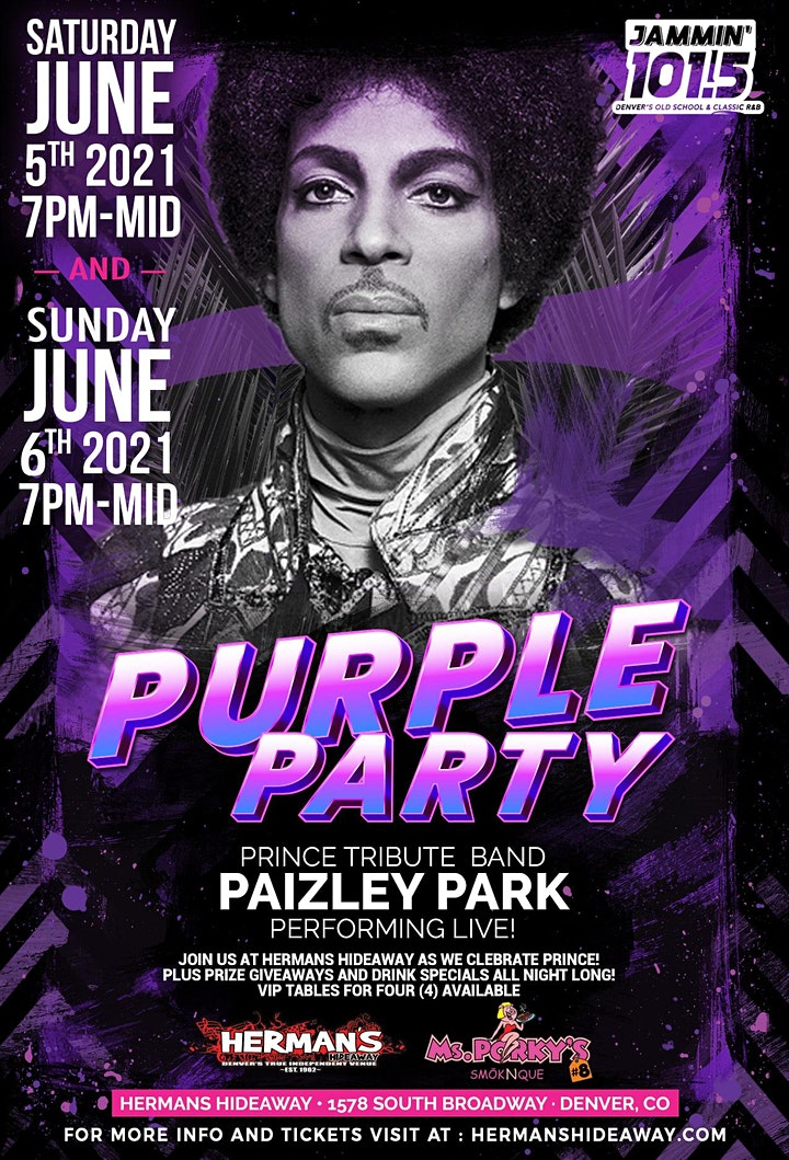 SOLD OUT (2nd show added: 6/6) - PURPLE PARTY - Ft. Paizley Park image