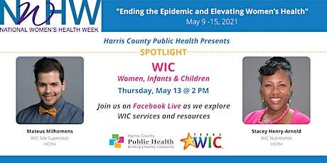 National Women's Health Week Spotlight: WIC tickets