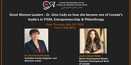 Great Women Leaders - Business and Entrepreneurship Outlook by Dr Gina Cody tickets