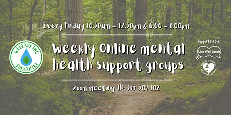Free Online Mental Wellbeing Support Sessions tickets