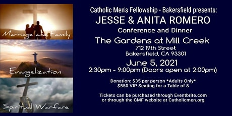 CMF Conference and Dinner for Men and Women with Jesse and Anita Romero tickets