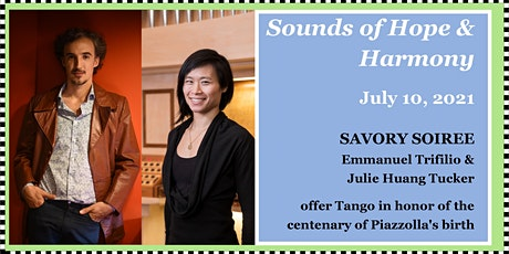 """Savory Soiree: """"Two to Tango: Celebrating Piazzolla at 100"""" tickets"""