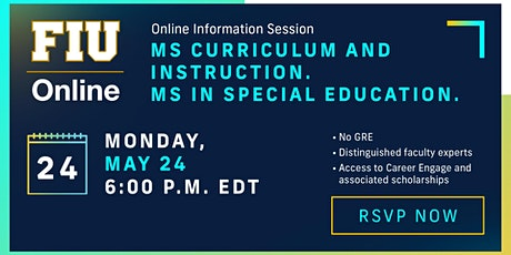 FIU Online Master's in Curriculum and Instruction and Special Education tickets