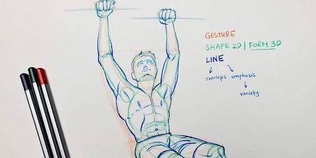 Figure Drawing Art Mentorship with Fei- LIVE Virtual Art Class tickets