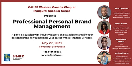 CAUFP Presents : Professional Personal Brand Management tickets