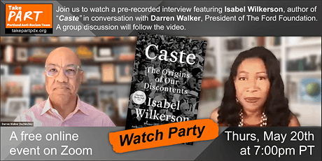 """Watch Party"" of Isabel Wilkerson's conversation with Darren Walker tickets"