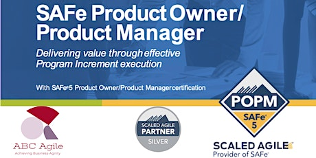 SAFe® Product Owner/Product Manager 5.0 boletos