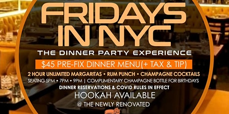 Fridays  In New York City Afterwork Dinner Experience Party 5th & Mad NYC tickets