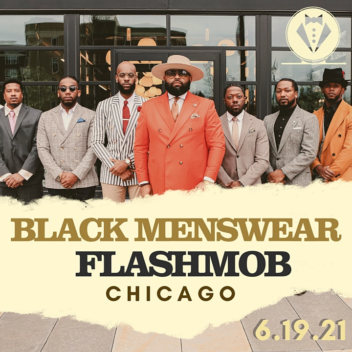 Black Menswear FlashMob Chicago image