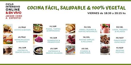 Ciclo de Cocina Fácil, Saludable & 100% Vegetal entradas