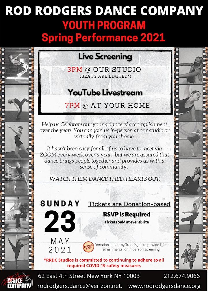 Youth Program Spring Performance 2021 Screening image