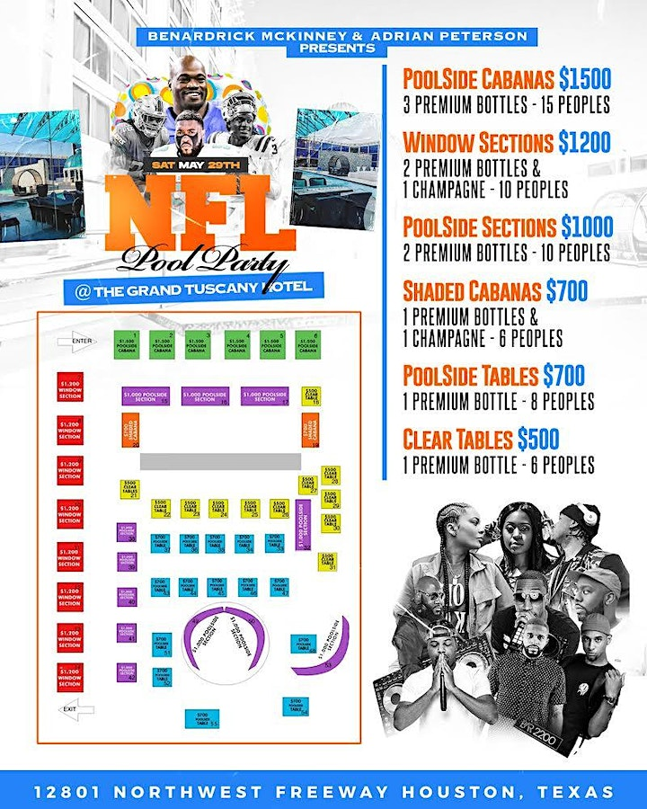 NFL POOL PARTY MEMORIAL WEEKEND SATURDAY MAY 29TH @ THE GRAND TUSCONY HOTEL image