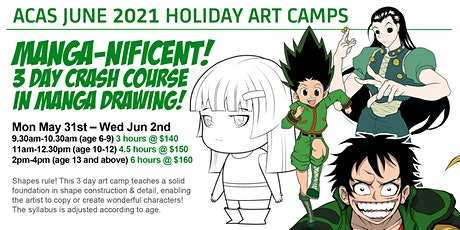 MANGA-NIFICENT! 3-Day Crash Course in Manga Drawing Art Camp! tickets