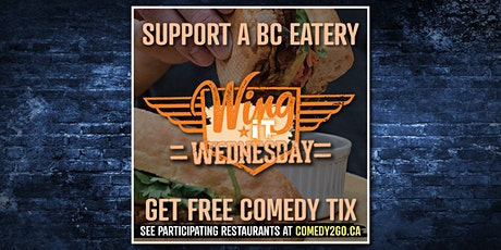 Comedy2Go presents: Wing It Wednesday | Online Comedy Show tickets