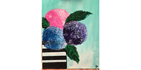 Beautiful hydrangeas Paint & Sip tickets