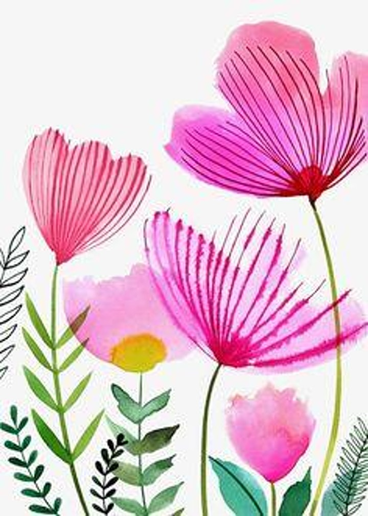 Easy Watercolor Flowers,   Art Class for Teens & Adults image