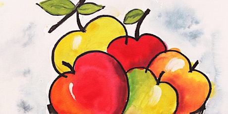 Apple Basket Watercolor  Art Class for Teens & Adults tickets