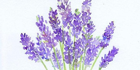 Lavender Bouquet Watercolor,  Art Class for Teens & Adults tickets