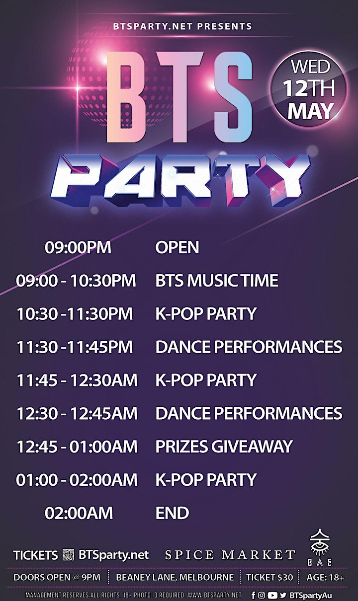 [Tonight] BTS Party + Kpop Party 450+ Capacity! [Get Tickets At the Door] image