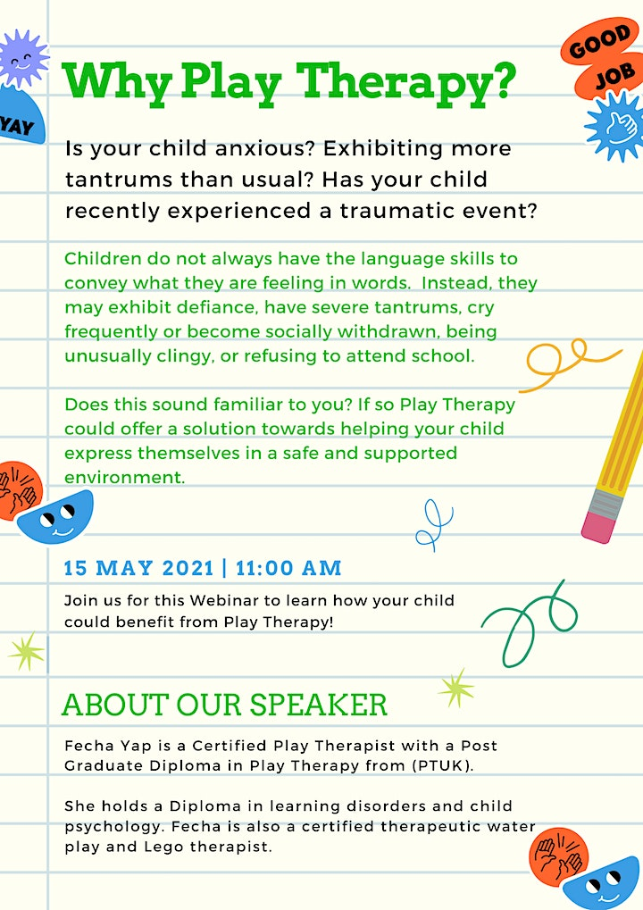 Play Therapy - An Information Webinar image